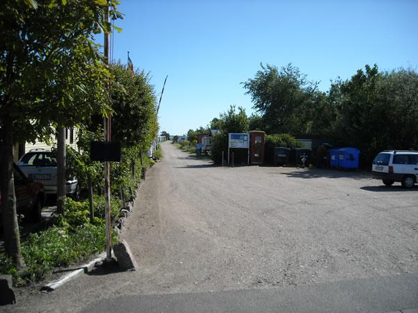 Campingplatz Einfahrt